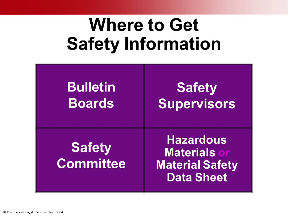 Where to Get Safety Information