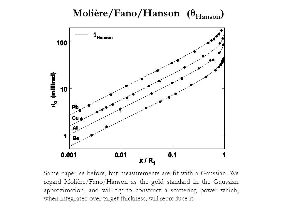 Molière/Fano/Hanson (θHanson)