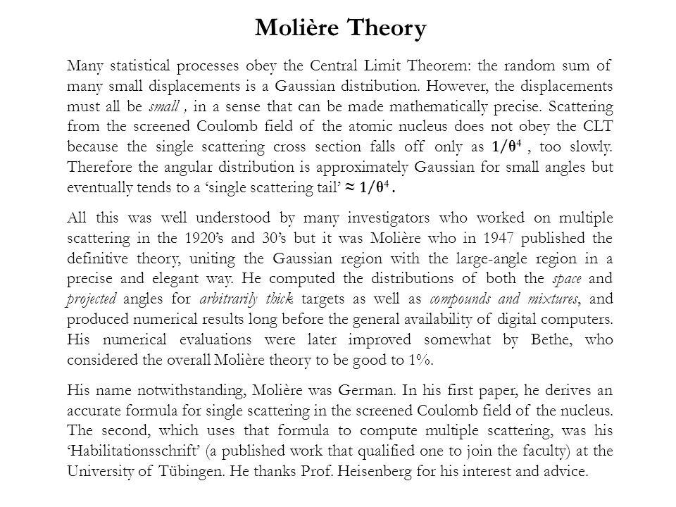 Molière Theory