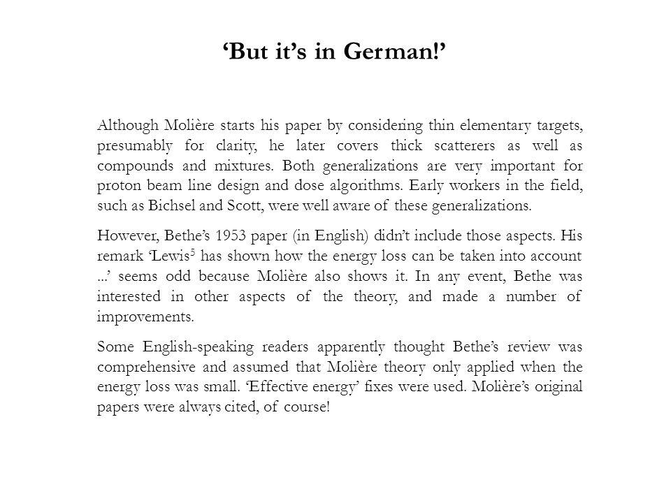 'But it's in German!'