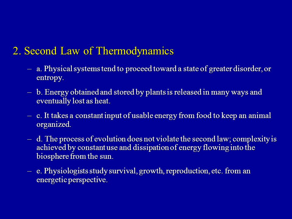 2. Second Law of Thermodynamics