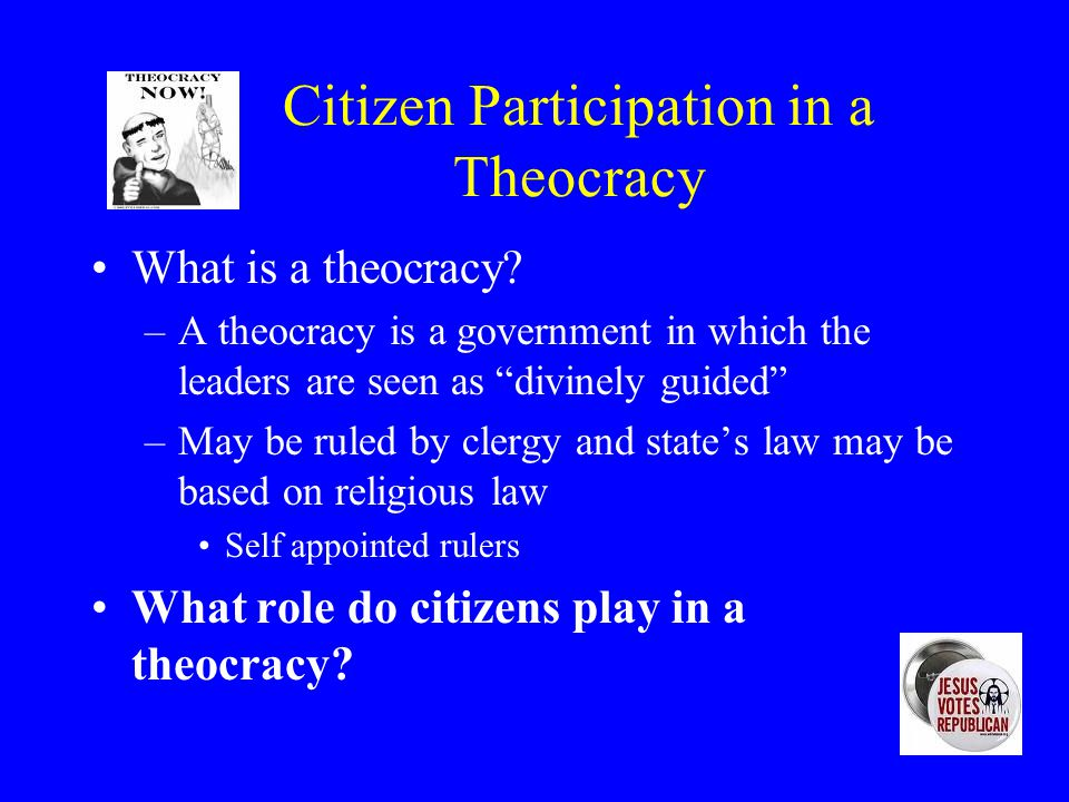 Citizen Participation in a Theocracy