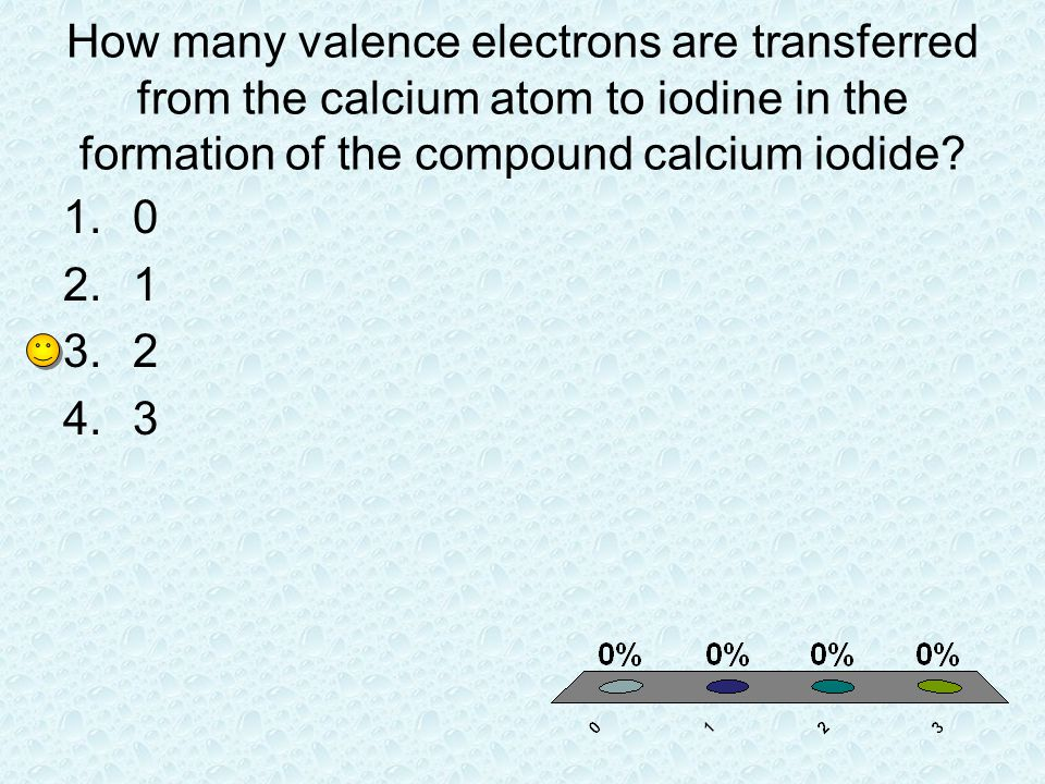 How many valence electrons are transferred from the calcium atom to iodine in the formation of the compound calcium iodide