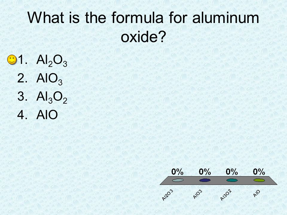 What is the formula for aluminum oxide