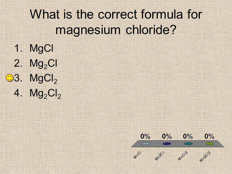 What is the correct formula for magnesium chloride