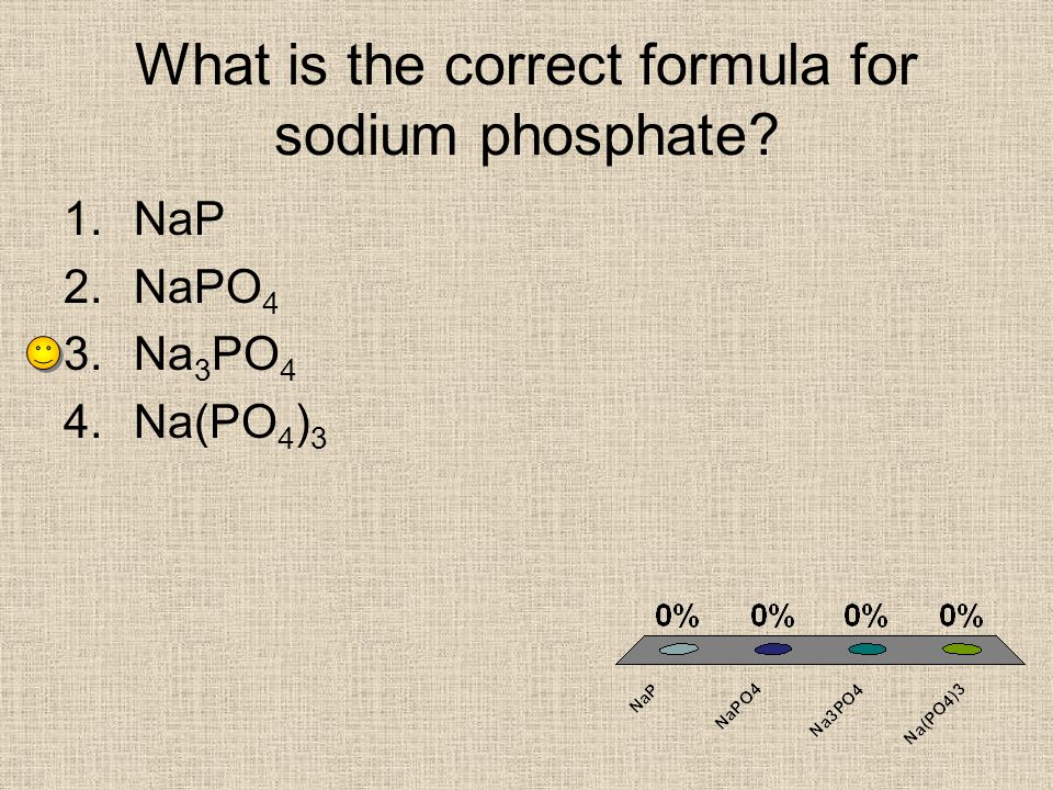 What is the correct formula for sodium phosphate