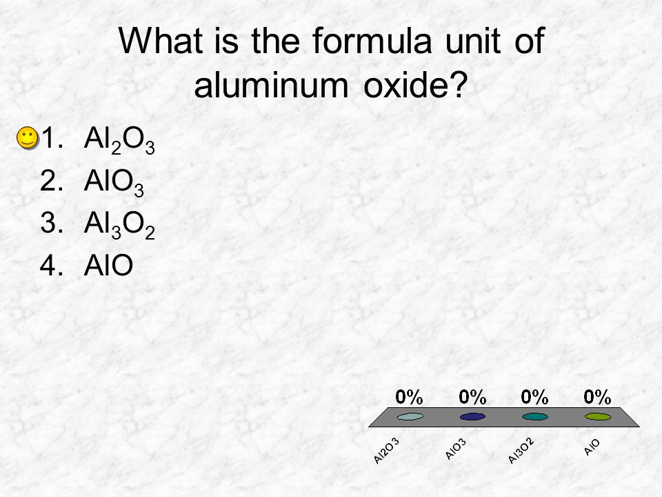 What is the formula unit of aluminum oxide