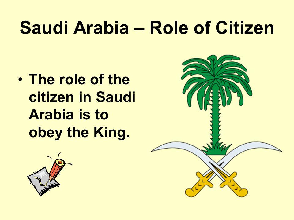 Saudi Arabia – Role of Citizen