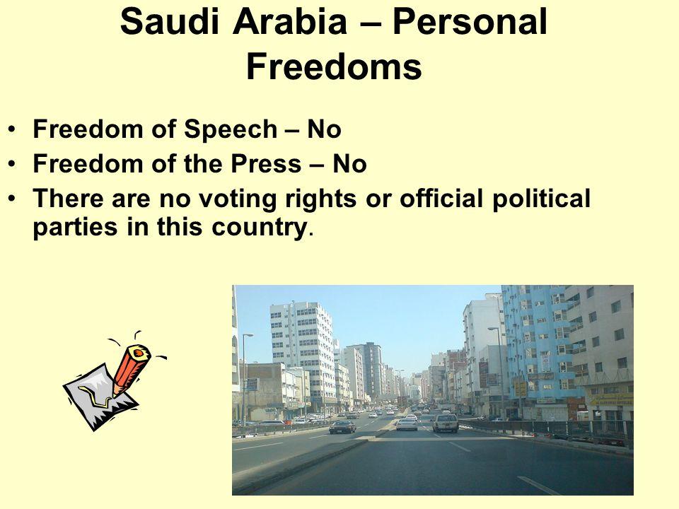 Saudi Arabia – Personal Freedoms