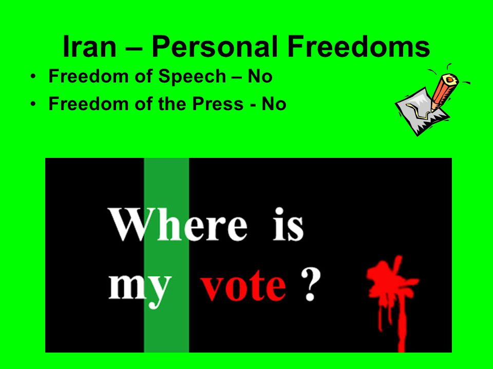 Iran – Personal Freedoms