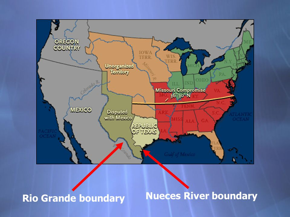Nueces River boundary Rio Grande boundary