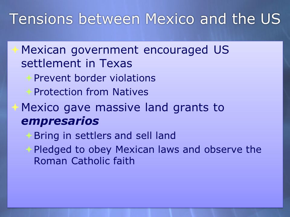 Tensions between Mexico and the US