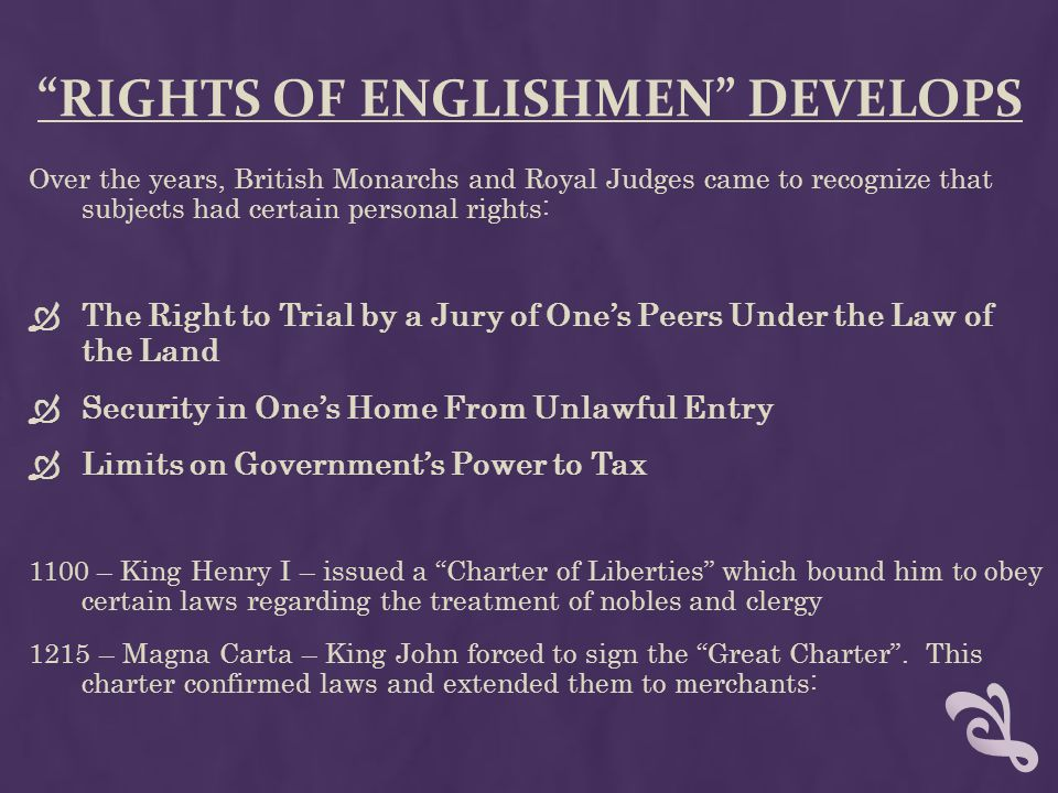Rights of Englishmen develops