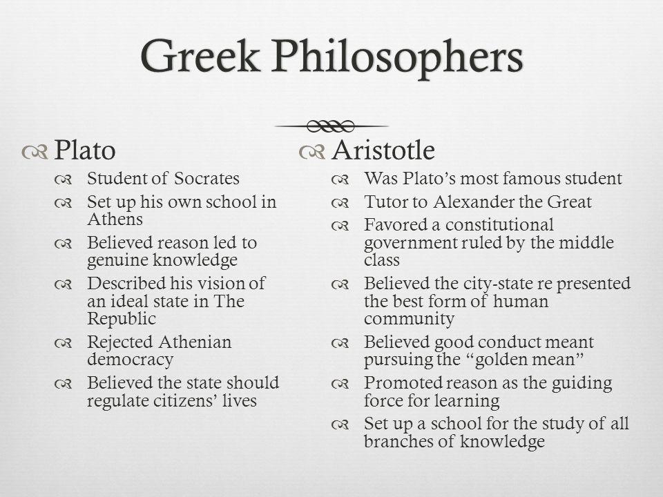Greek Philosophers Plato Aristotle Student of Socrates
