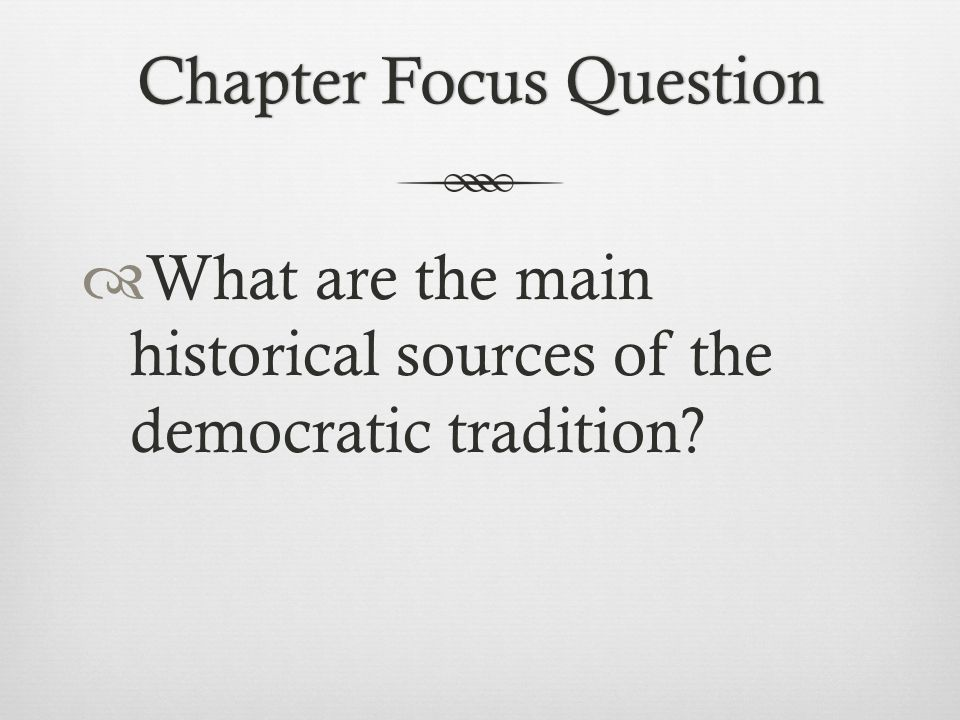 Chapter Focus Question