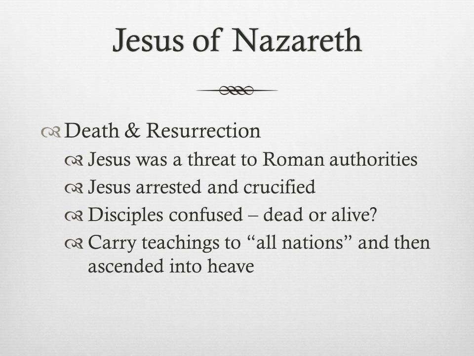 Jesus of Nazareth Death & Resurrection
