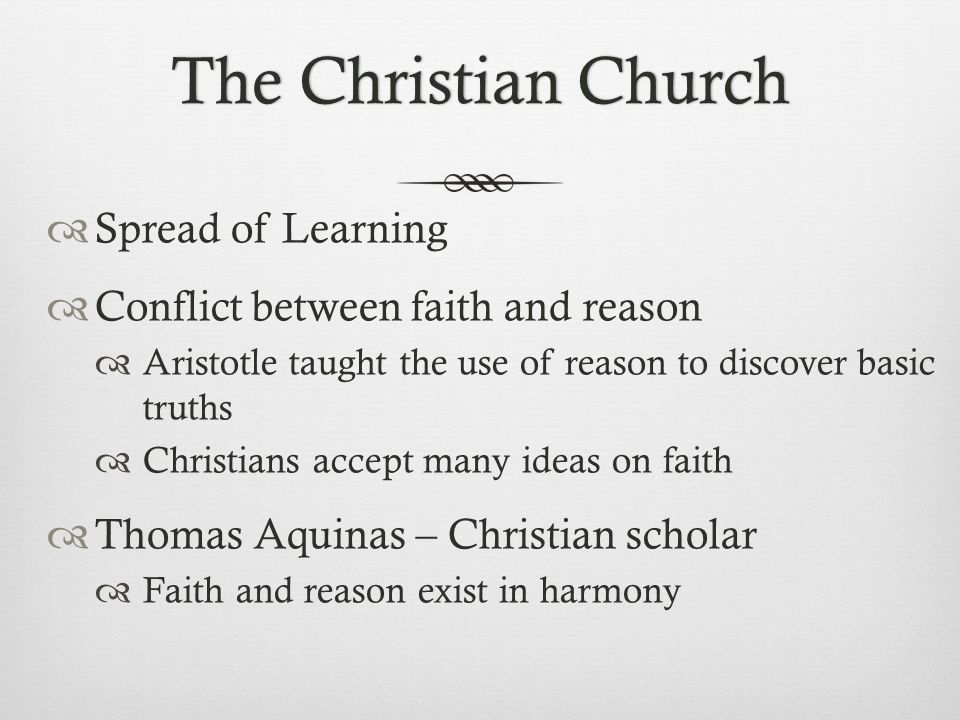 The Christian Church Spread of Learning