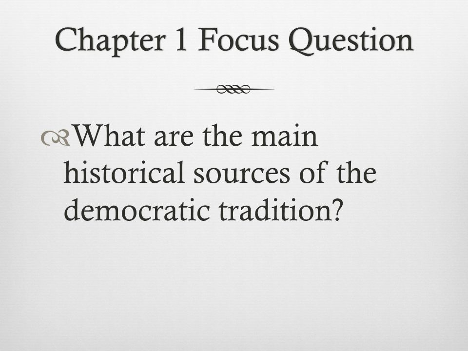 Chapter 1 Focus Question