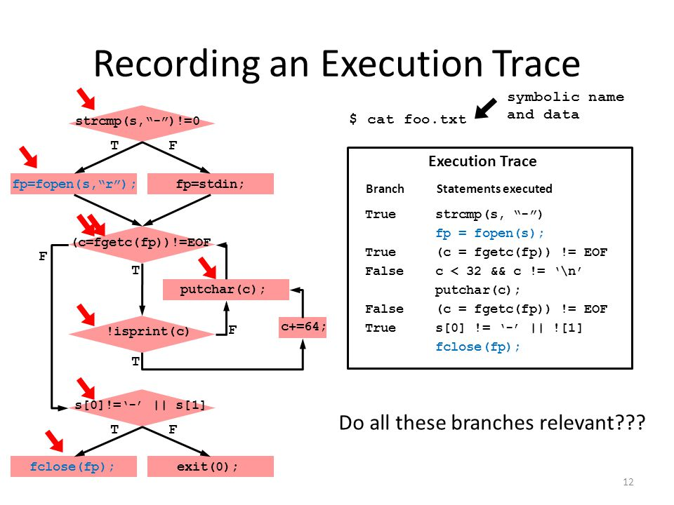 Recording an Execution Trace