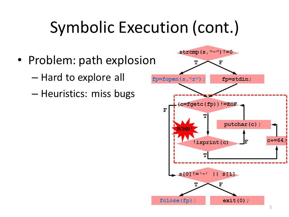 Symbolic Execution (cont.)