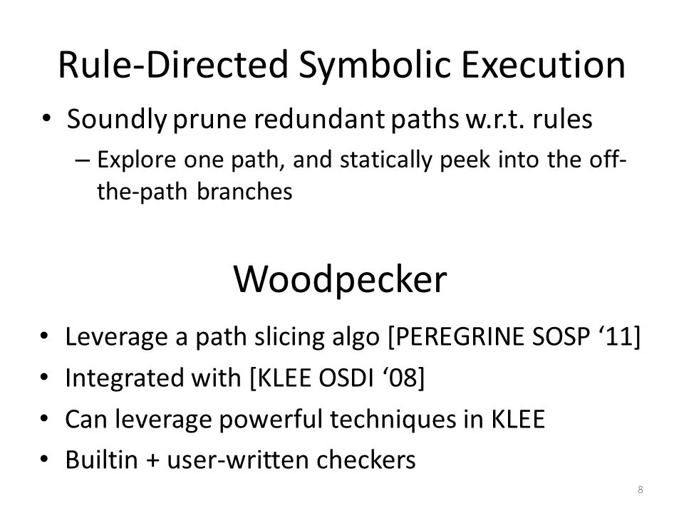 Rule-Directed Symbolic Execution