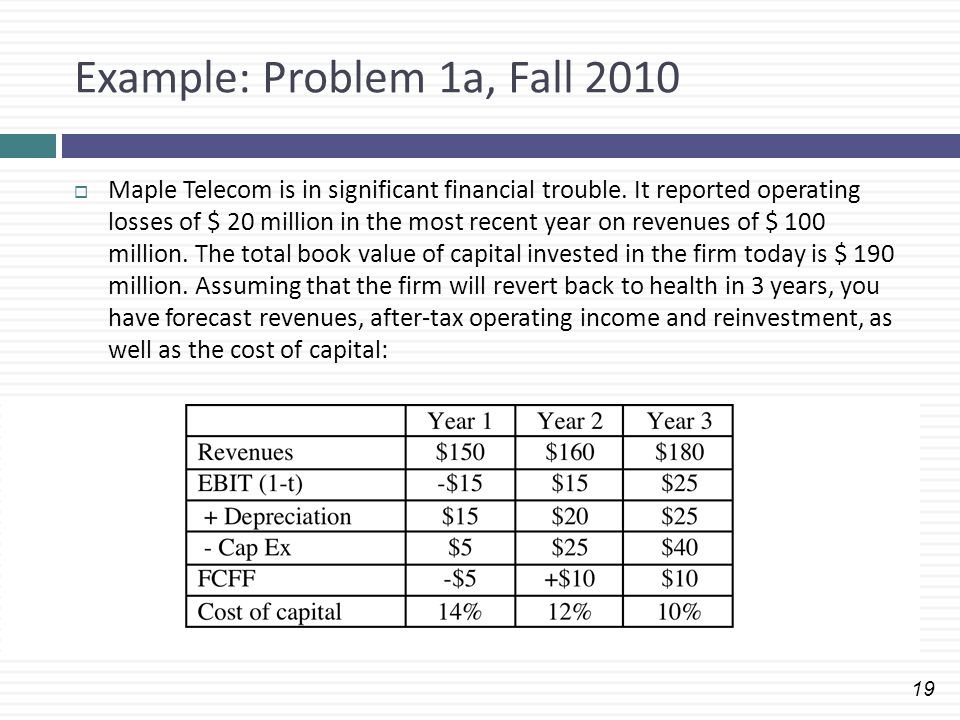 Example: Problem 1a, Fall 2010