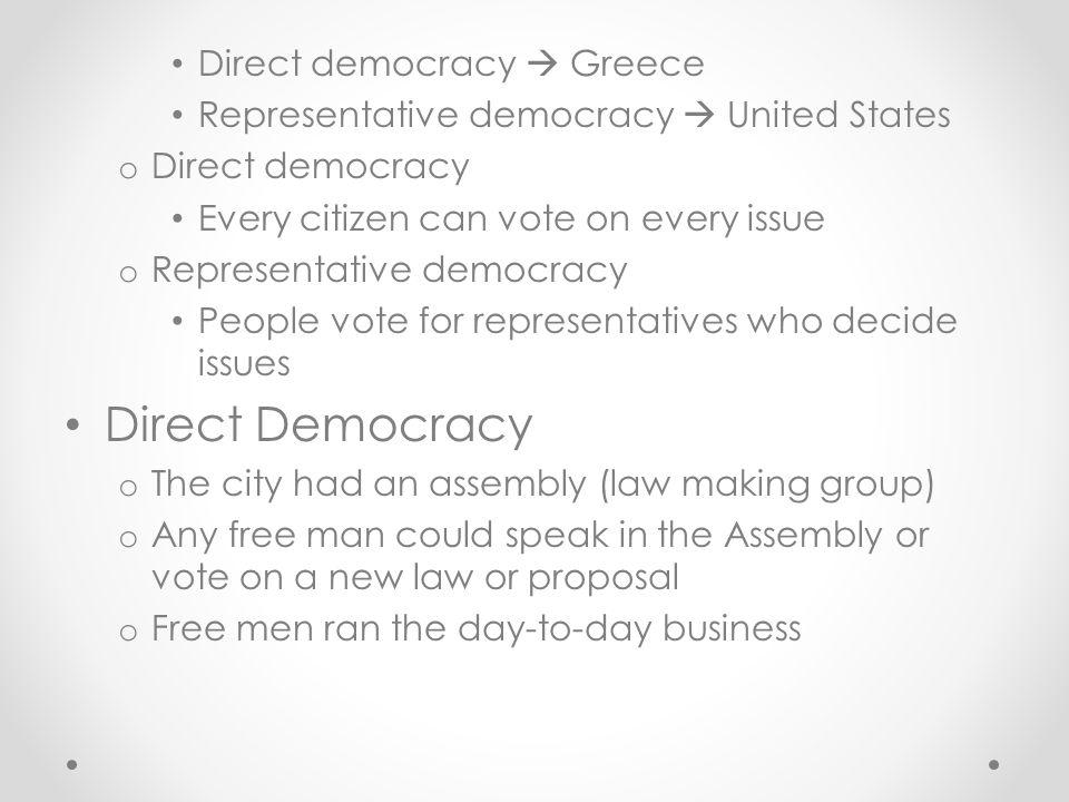 Direct Democracy Direct democracy  Greece