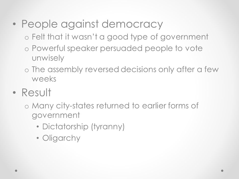 People against democracy