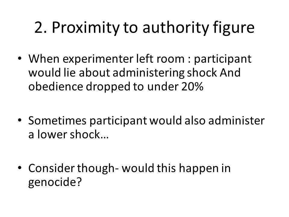 2. Proximity to authority figure