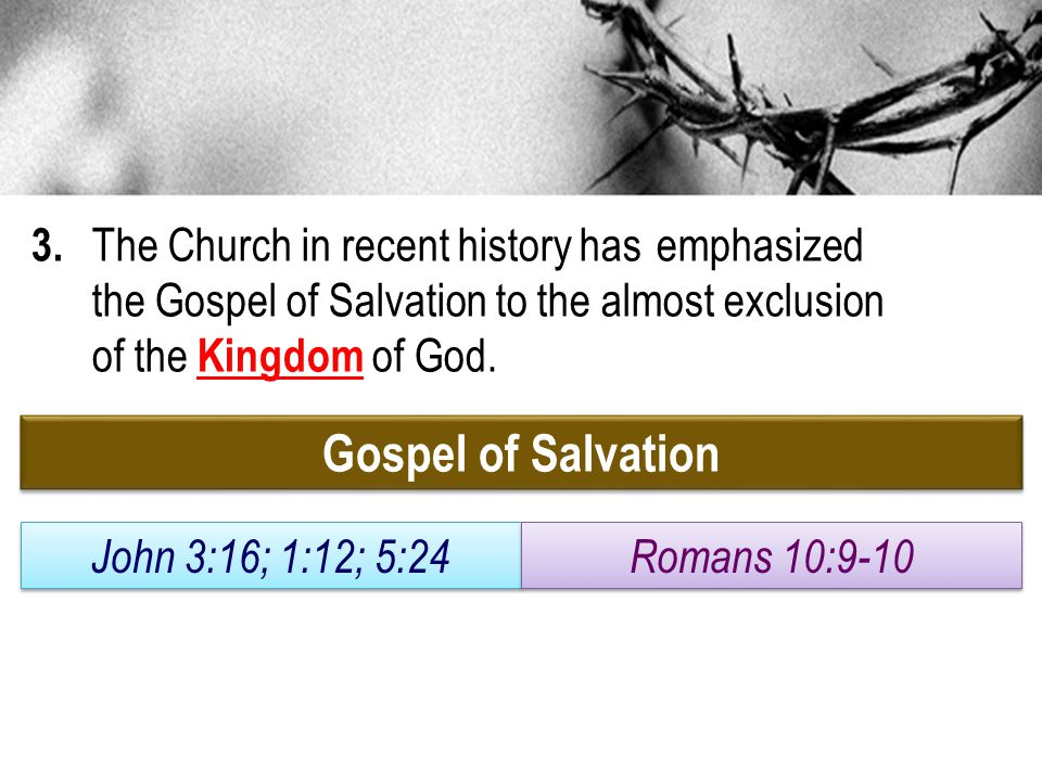 3. The Church in recent history has. emphasized