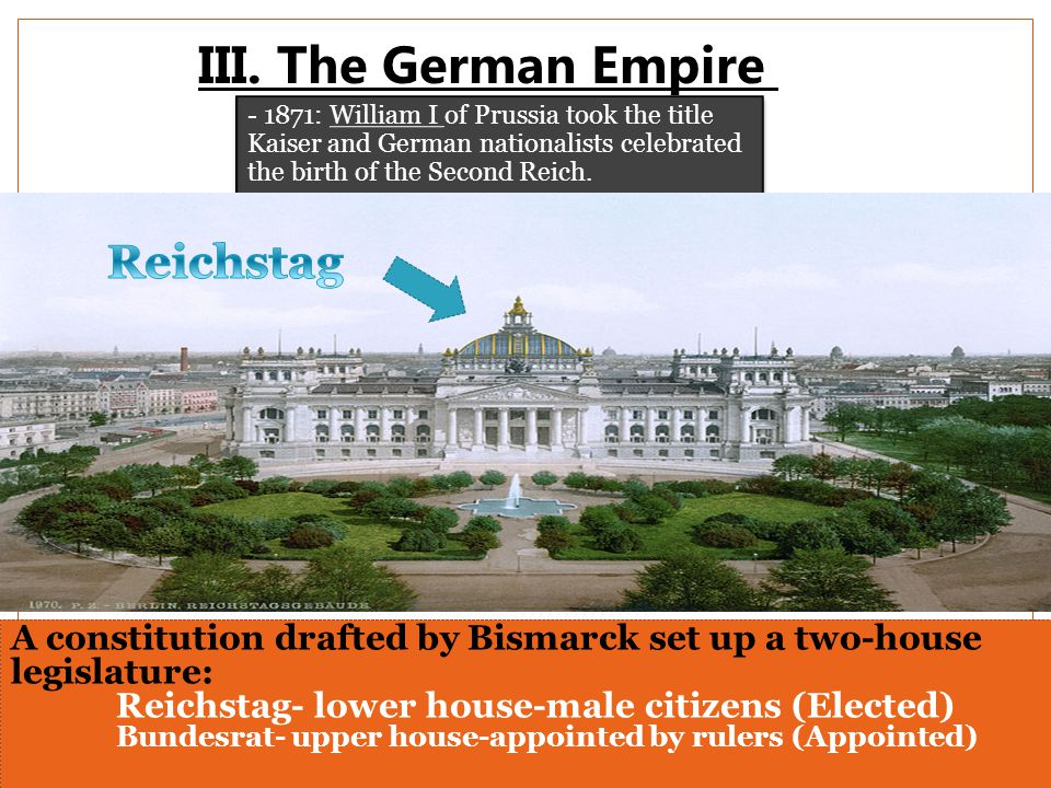 III. The German Empire Reichstag
