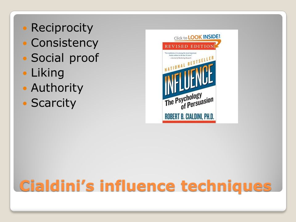 Cialdini's influence techniques
