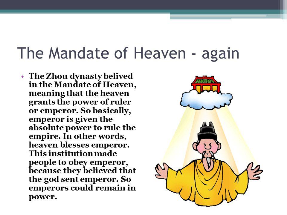 The Mandate of Heaven - again
