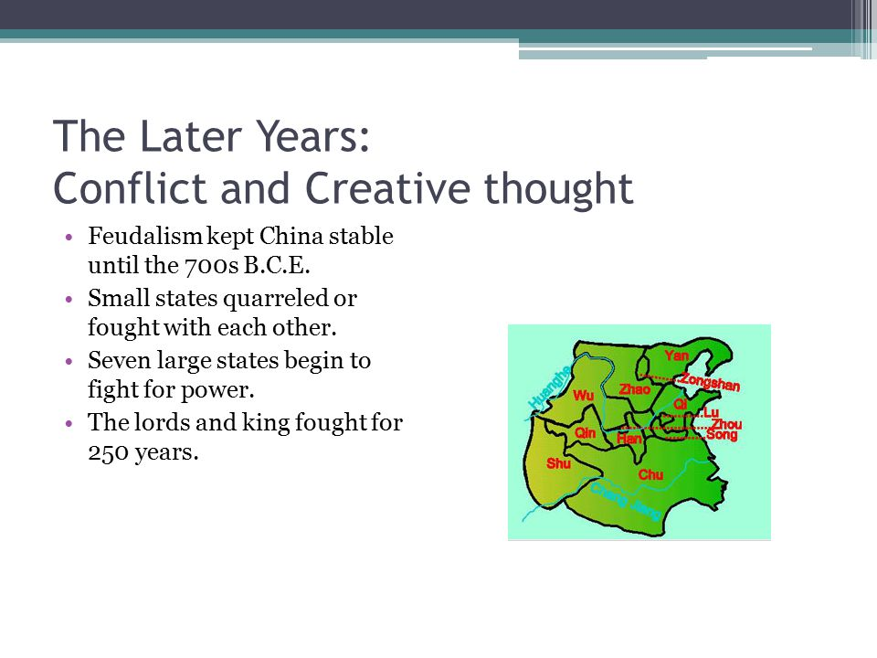 The Later Years: Conflict and Creative thought
