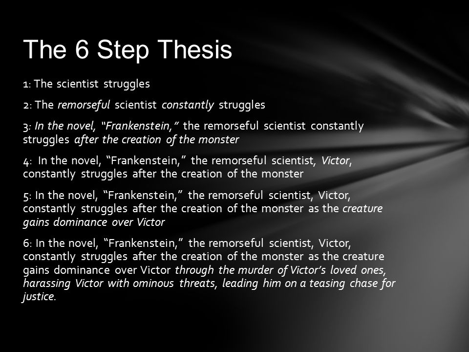 The 6 Step Thesis