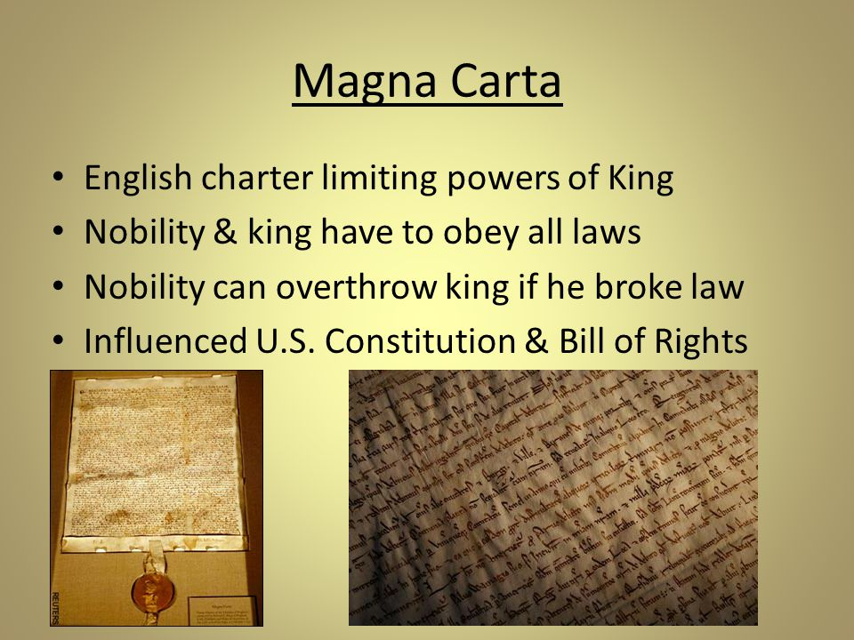Magna Carta English charter limiting powers of King