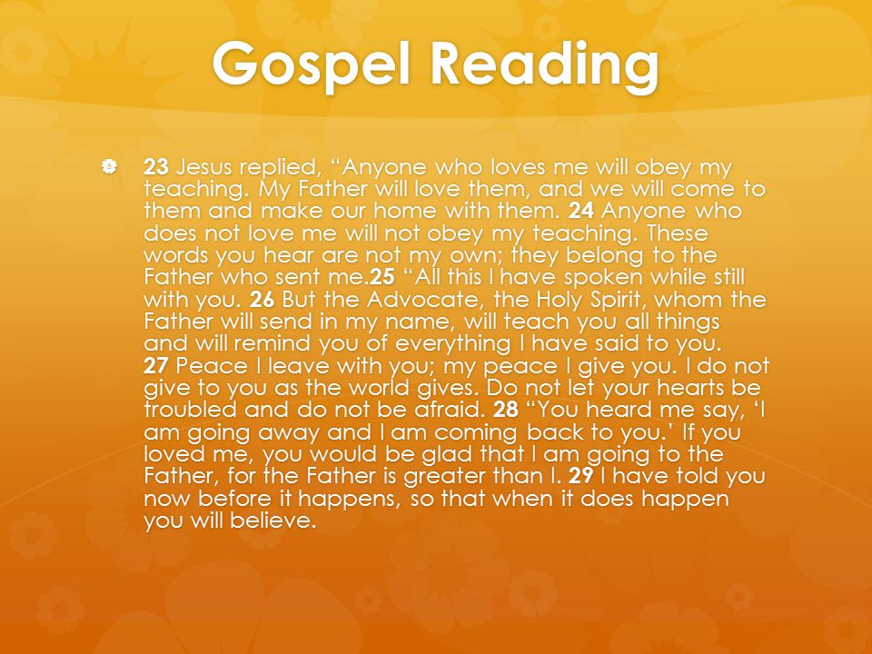 Gospel Reading