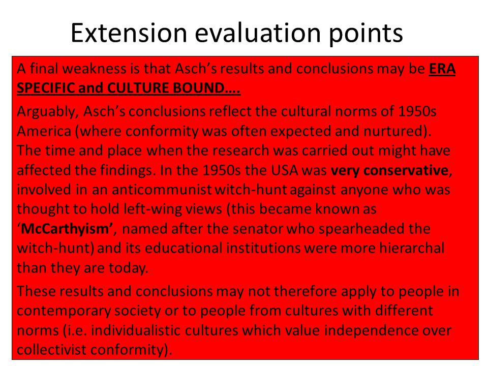 Extension evaluation points