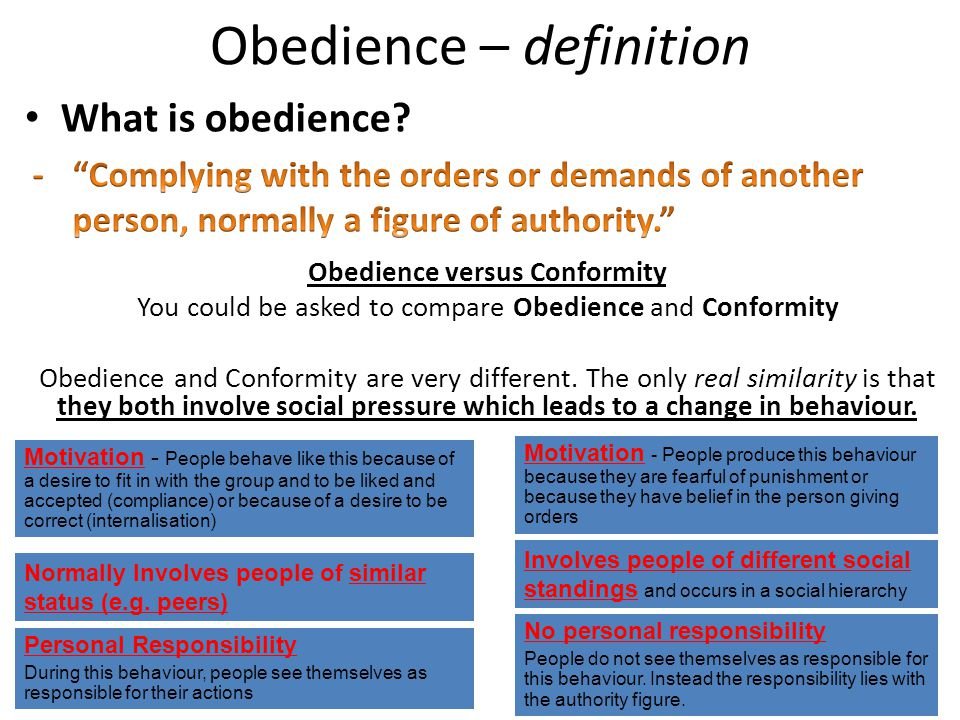 Obedience – definition