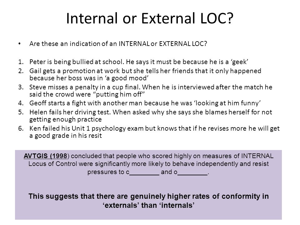 Internal or External LOC
