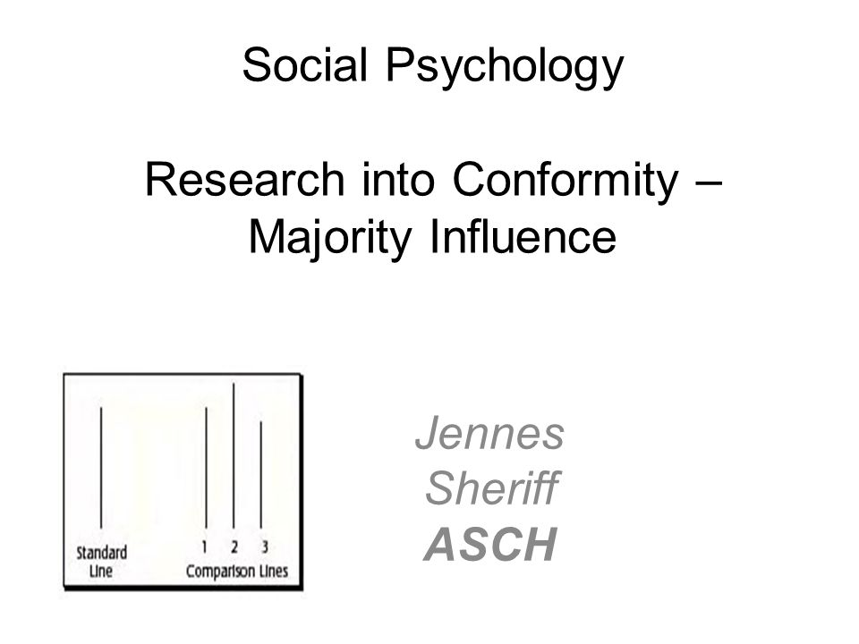 Social Psychology Research into Conformity – Majority Influence