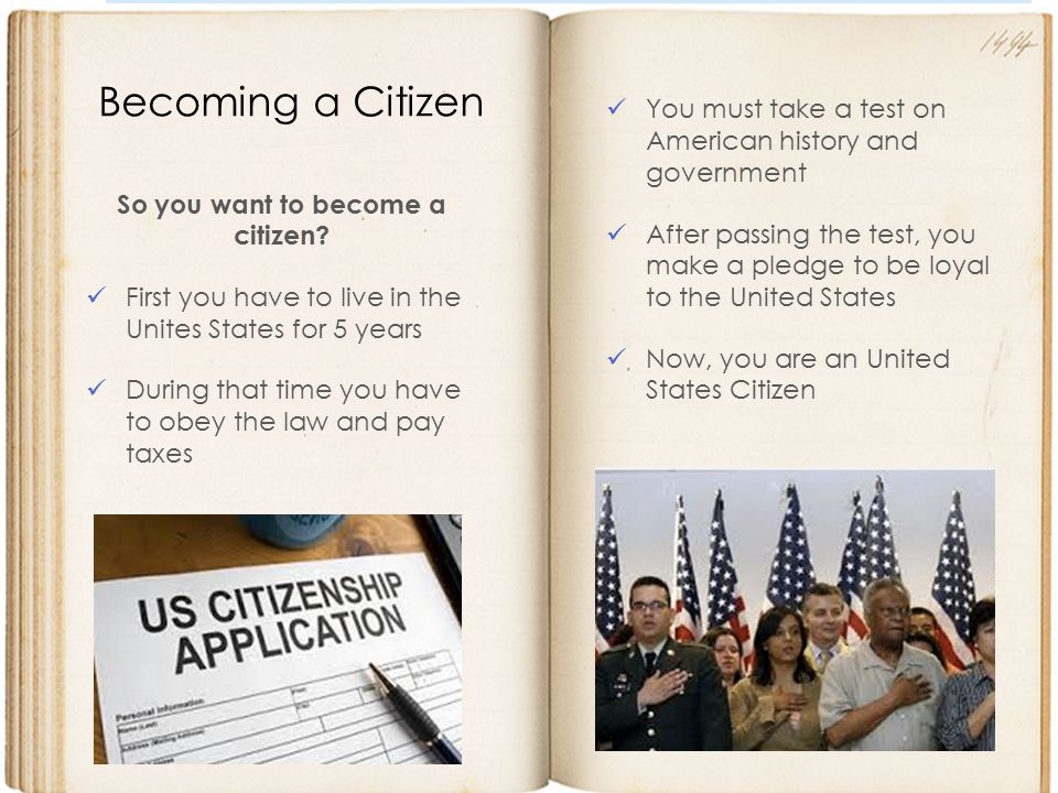 So you want to become a citizen