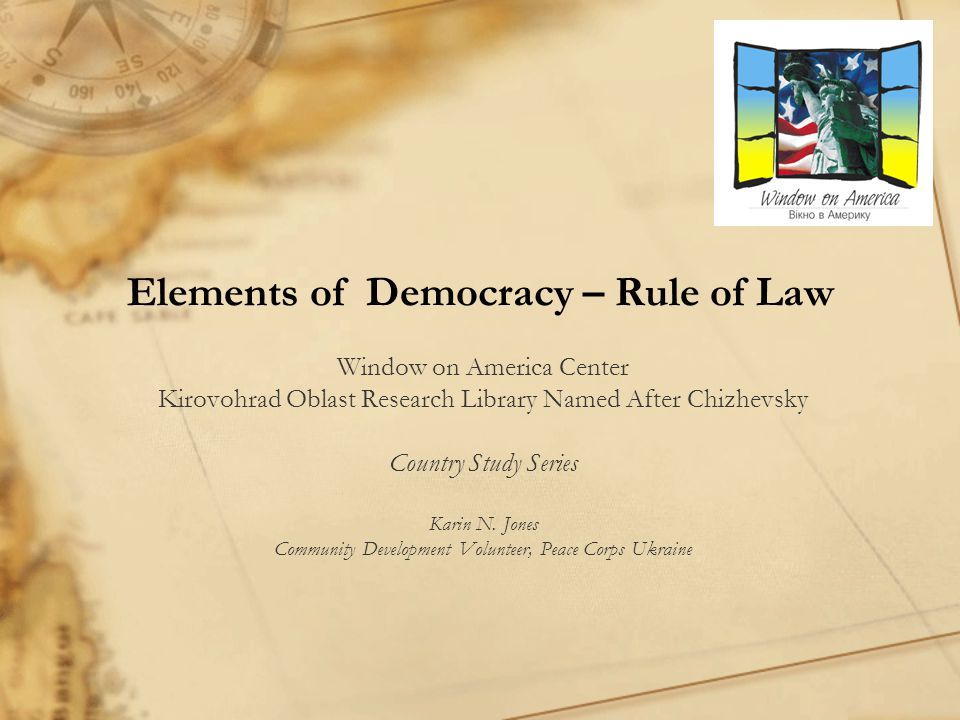 Elements of Democracy – Rule of Law