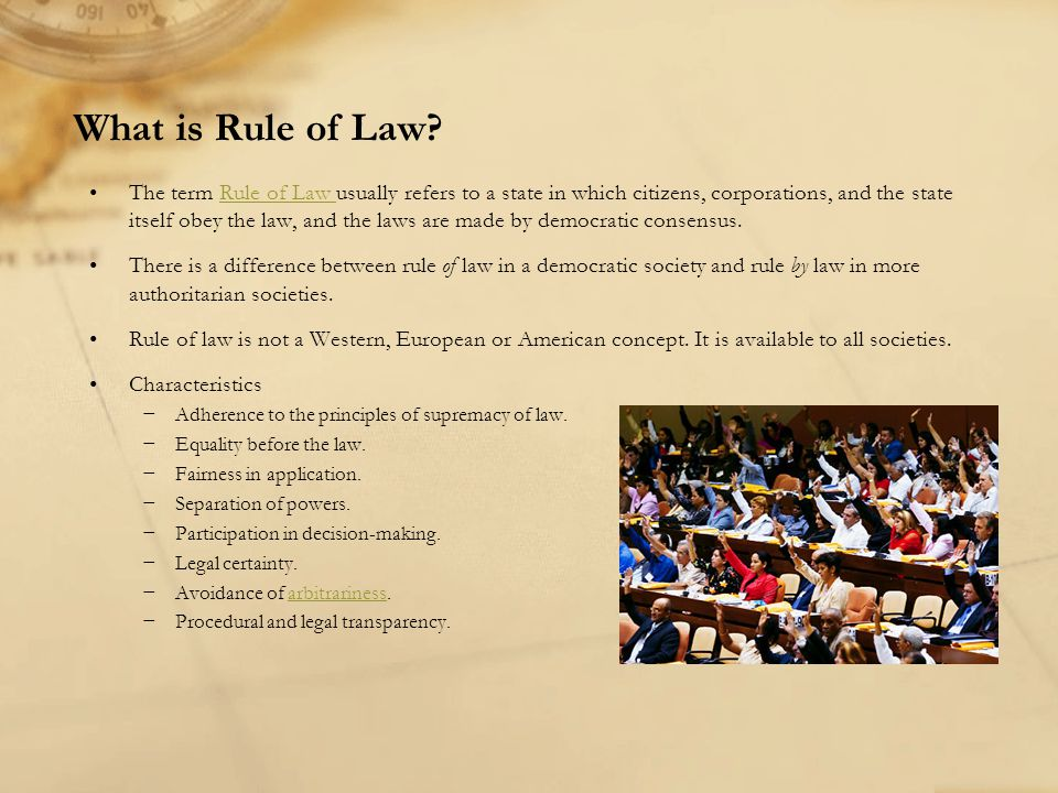 What is Rule of Law