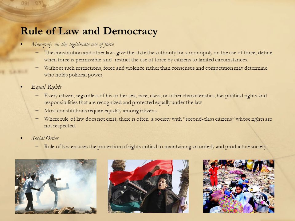 Rule of Law and Democracy