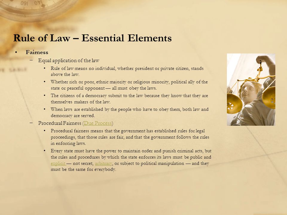 Rule of Law – Essential Elements