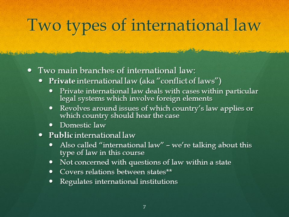 Two types of international law