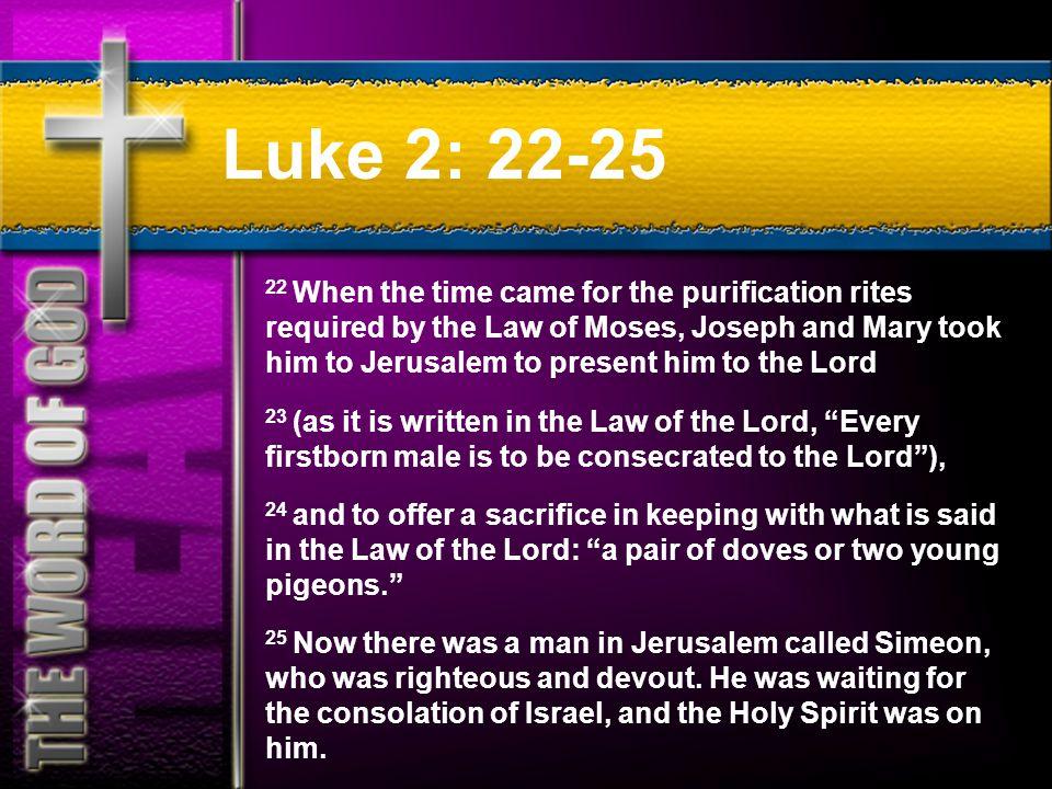 Luke 2: 22-25