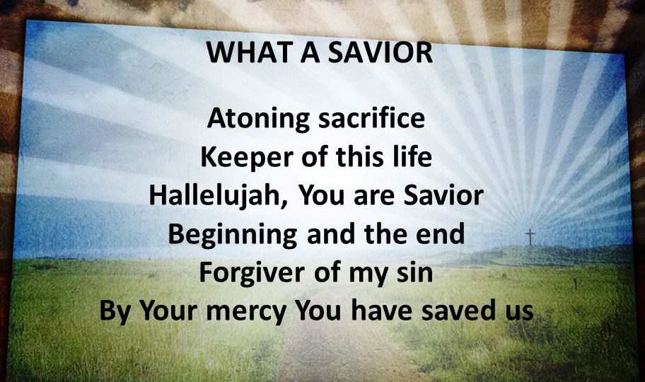 Hallelujah, You are Savior By Your mercy You have saved us