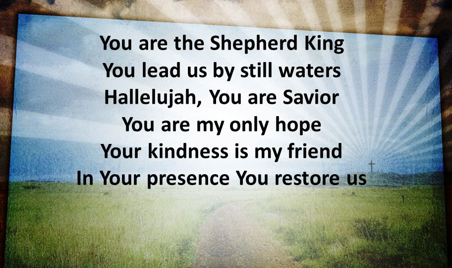You are the Shepherd King You lead us by still waters